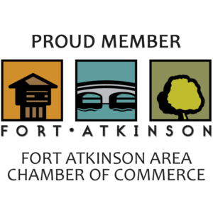 logo for the Fort Atkinson Area Chamber of Commerce